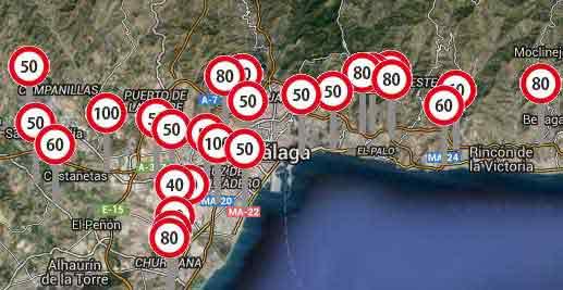 Situacion de radares en malaga radares de trafico malaga for Oficina de trafico malaga